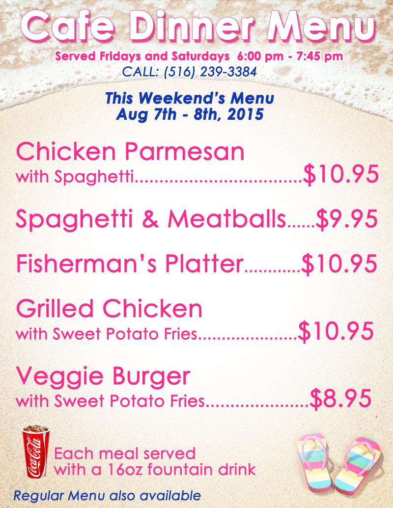 cafe dinner menu 2015 week6